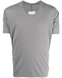 graues T-Shirt mit einem Rundhalsausschnitt von Maison Margiela