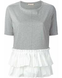 graues T-Shirt mit einem Rundhalsausschnitt von Marni