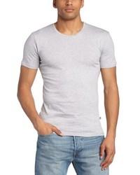 graues T-Shirt mit einem Rundhalsausschnitt von Minimum