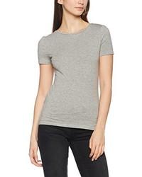 graues T-Shirt mit einem Rundhalsausschnitt von New Look