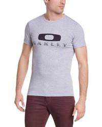 graues T-Shirt mit einem Rundhalsausschnitt von Oakley