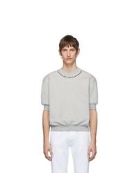 graues T-Shirt mit einem Rundhalsausschnitt von Random Identities
