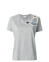 graues T-Shirt mit einem Rundhalsausschnitt von RED Valentino