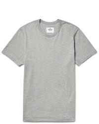 graues T-Shirt mit einem Rundhalsausschnitt von Reigning Champ