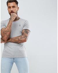 graues T-Shirt mit einem Rundhalsausschnitt von Religion