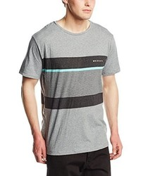 graues T-Shirt mit einem Rundhalsausschnitt von Rip Curl