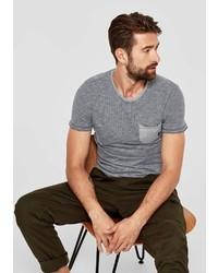 graues T-Shirt mit einem Rundhalsausschnitt von S.OLIVER RED LABEL