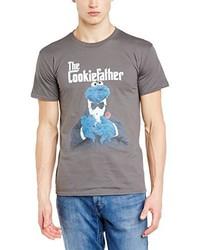 graues T-Shirt mit einem Rundhalsausschnitt von Sesame Street