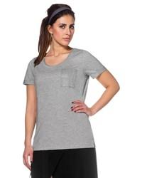 graues T-Shirt mit einem Rundhalsausschnitt von SHEEGOTIT