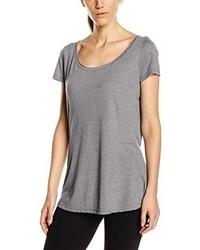 graues T-Shirt mit einem Rundhalsausschnitt von Stedman Apparel