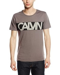 graues T-Shirt mit einem Rundhalsausschnitt