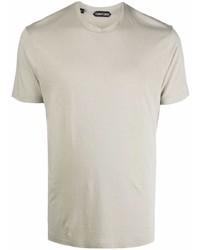 graues T-Shirt mit einem Rundhalsausschnitt von Tom Ford
