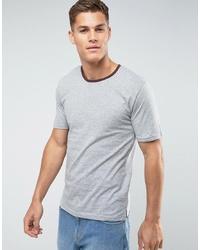 graues T-Shirt mit einem Rundhalsausschnitt von troy