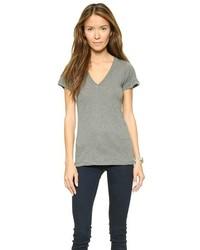 graues T-Shirt mit einem V-Ausschnitt von LnA