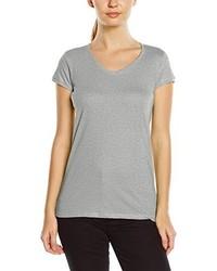 graues T-Shirt mit einem V-Ausschnitt von Stedman Apparel