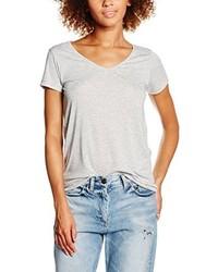 graues T-Shirt mit einem V-Ausschnitt