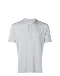 graues T-shirt mit einer Knopfleiste von Eleventy
