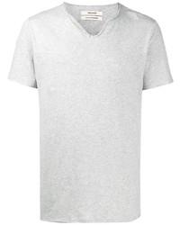 graues T-shirt mit einer Knopfleiste von Zadig & Voltaire
