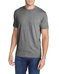 graues T-Shirt mit einem Rundhalsausschnitt von Eddie Bauer