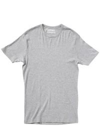 Graues T-Shirt mit Rundhalsausschnitt von Garage