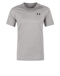 graues T-Shirt mit einem Rundhalsausschnitt von Under Armour