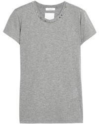 graues T-Shirt mit einem Rundhalsausschnitt von Valentino