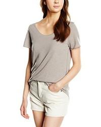 graues T-Shirt mit einem Rundhalsausschnitt von Vero Moda