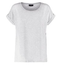 graues T-Shirt mit einem Rundhalsausschnitt von Vila