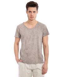 graues T-Shirt mit einem Rundhalsausschnitt von WAY OF GLORY