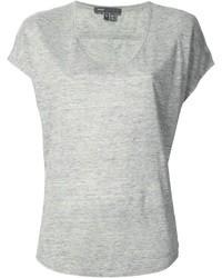 Graues t shirt mit v ausschnitt original 1308795