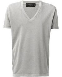 Graues t shirt mit v ausschnitt original 384030