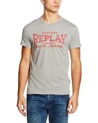 graues T-shirt von Replay
