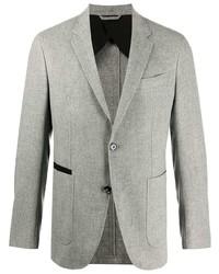 graues Tweed Sakko mit Fischgrätenmuster von Ermenegildo Zegna
