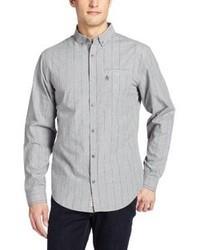 graues vertikal gestreiftes Langarmhemd