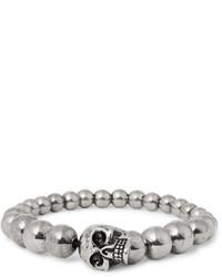 graues verziert mit Perlen Armband