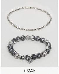 graues Perlen Armband von Icon Brand