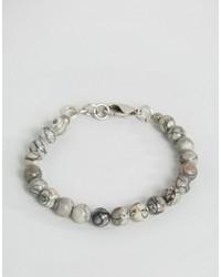 graues Perlen Armband von Seven London