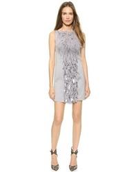 graues Perlen gerade geschnittenes Kleid von Dsquared2