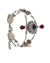 graues verziertes Armband von Alexander McQueen