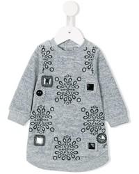 graues verziertes Kleid von Little Marc Jacobs