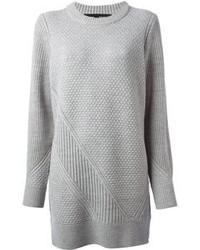 graues Wollfreizeitkleid von Proenza Schouler