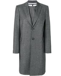 graues Wollgerade geschnittenes kleid von Dsquared2