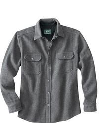 graues Wolllangarmhemd