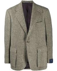 graues Wollsakko mit Fischgrätenmuster von Polo Ralph Lauren