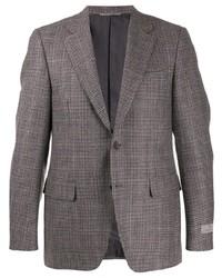 graues Wollsakko mit Hahnentritt-Muster von Canali