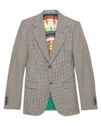 graues Wollsakko mit Hahnentritt-Muster von Gucci