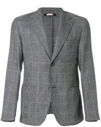 graues Wollsakko mit Hahnentritt-Muster von Massimo Alba