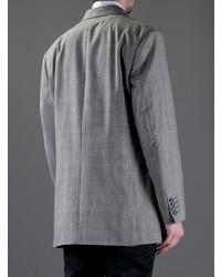 graues Zweireiher-Sakko mit Schottenmuster von Moschino