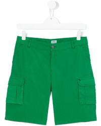 grüne Baumwollshorts von Armani Junior