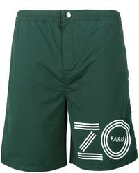 grüne bedruckte Badeshorts von Kenzo